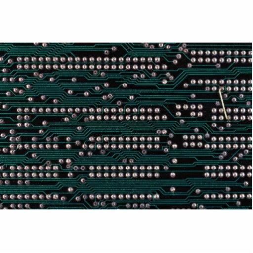 Cableado de la placa de circuito esculturas fotograficas