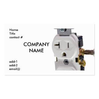 cableado eléctrico del enchufe de pared tarjeta de negocio