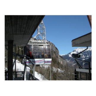 Cablecar, Gimmelwald, Jungfrau,Switzerland Postcard