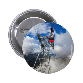 cablecar in Italian Dolomites Pinback Button