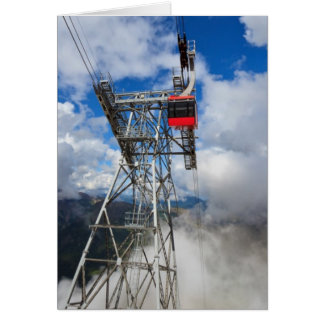 cablecar in Italian Dolomites Card