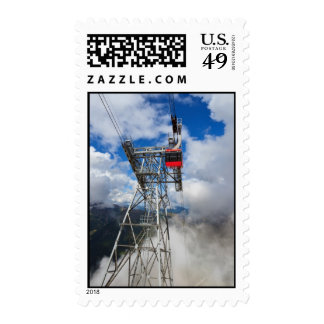 cablecar in Italian Dolomites Postage Stamps