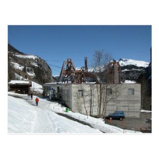 Cablecar Station, Gimmelwald, Jungfrau,Switzerland Postcard