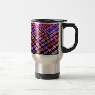 Cables and shapes travel mug