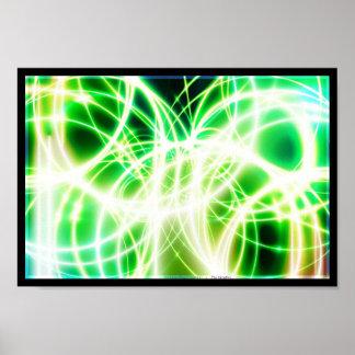 Cables de la fibra de vidrio del Lit Póster