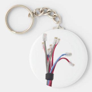 Cables de la red llavero personalizado
