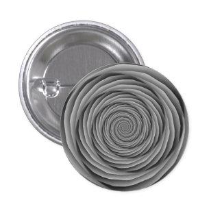 Cables en espiral en botón blanco y negro pins