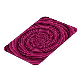 Cables en espiral en imán rosado de la foto