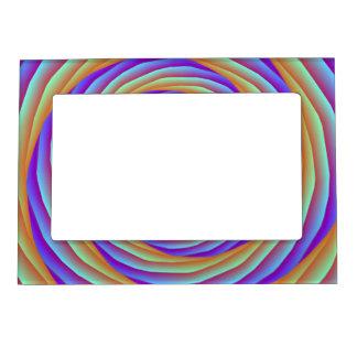 Cables en espiral en marco azul y rosado anaranjad marcos magneticos