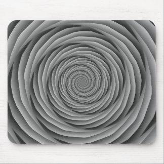 Cables en espiral en Mousepad blanco y negro