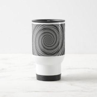 Cables en espiral en taza blanco y negro