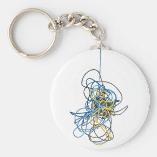Cables enredados de la red llaveros personalizados