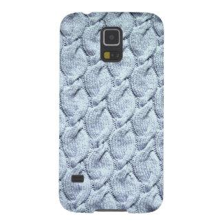 cables hechos punto grandes Azul-grises Carcasas De Galaxy S5