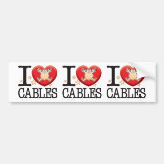 Cables Love Man Car Bumper Sticker