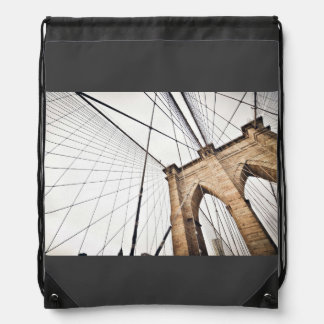 Cables support bridge with arches backpack