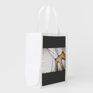 Cables support bridge with arches reusable grocery bag