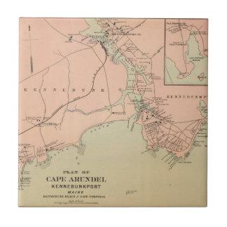 Cabo Arundel, Kennebunkport, Maine Azulejo Cuadrado Pequeño