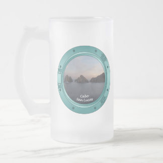 Cabo at Sunset 16 Oz Frosted Glass Beer Mug