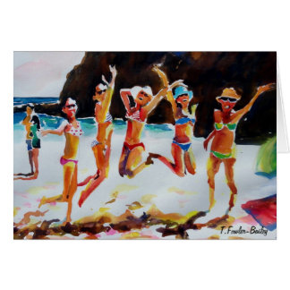Cabo Bikinis and Shades   Card Original Watercolor