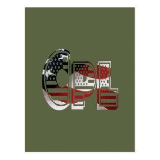 Cabo completo americano verde militar de los tarjeta postal