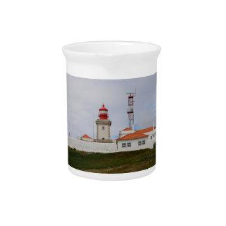 Cabo da Roca Lighthouse, Portugal Beverage Pitcher