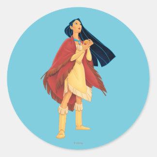 Cabo de Pocahontas Pegatina Redonda