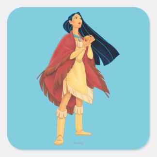 Cabo de Pocahontas Pegatina Cuadrada