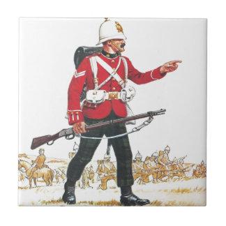 Cabo, escocés real, regimiento de Lothian Azulejo Cuadrado Pequeño