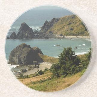 Cabo Ferrelo, Vista, pilas del océano, mar, Posavasos Manualidades
