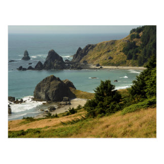 Cabo Ferrelo, Vista, pilas del océano, mar, Tarjetas Postales
