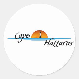 Cabo Hattaras Pegatina Redonda