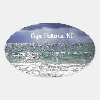 Cabo Hatteras, NC Pegatina Ovalada
