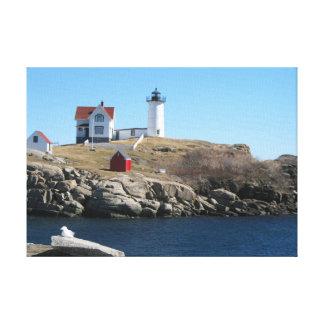 Cabo ligero Neddick Maine de la protuberancia Impresiones En Lienzo Estiradas