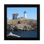 Cabo ligero Neddick Maine de la protuberancia pequ Cajas De Recuerdo