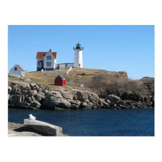 Cabo ligero Neddick Maine de la protuberancia pequ Tarjetas Postales