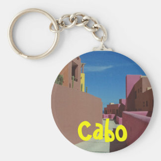 Cabo Mexico Basic Round Button Keychain