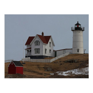 Cabo Neddick luz de la protuberancia pequeña en Tarjetas Postales