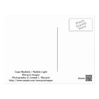 Cabo Neddick luz de la protuberancia pequeña Tarjeta Postal