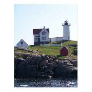 Cabo Neddick - luz de la protuberancia pequeña Postales