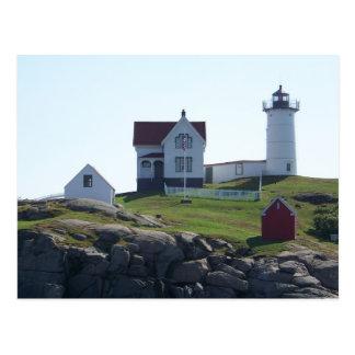 Cabo Neddick - luz de la protuberancia pequeña Postal