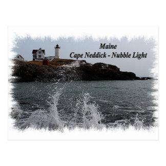 Cabo Neddick - luz de Maine de la protuberancia pe Postales