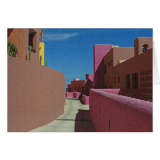 Cabo Photo - A Path Through Colorful Walls Card