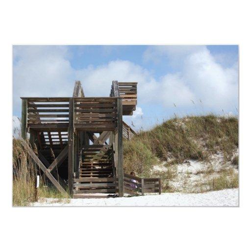 """Cabo San Blas la Florida Dunewalk del lado de la Invitación 5"""" X 7"""""""