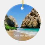 Cabo San Lucas Adorno Navideño Redondo De Cerámica