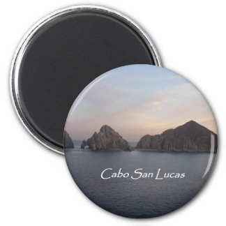 Cabo San Lucas at Sunset 2 Inch Round Magnet