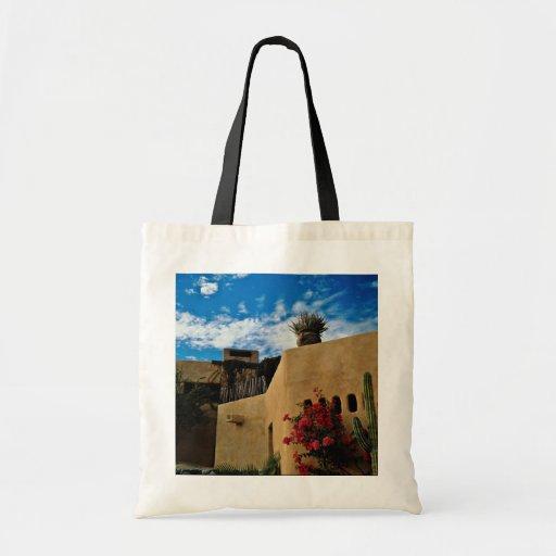 Cabo San Lucas, Baja, Mexico  flowers Budget Tote Bag