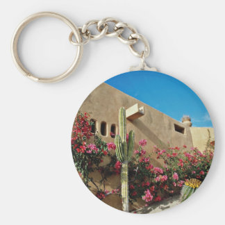 Cabo San Lucas, Baja, Mexico  flowers Basic Round Button Keychain