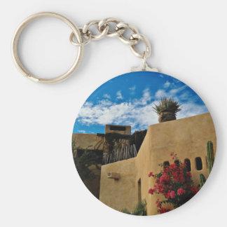 Cabo San Lucas, Baja, Mexico  flowers Key Chain