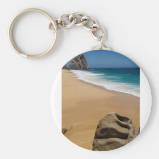 Cabo San Lucas beach 24 Basic Round Button Keychain