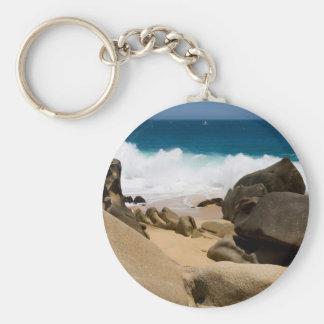Cabo San Lucas beach 26 Basic Round Button Keychain